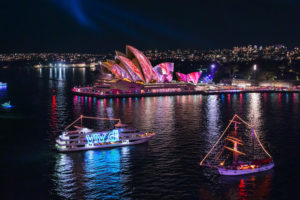 Sydney - The Sydney Opera House light projection during Vivid - luxury short breaks New South Wales