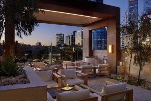Perth - Ritz Carlton rooftop lounge area - Luxury short breaks Australia