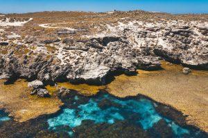 Rottnest Island - Rocky landscape of the island - Luxury short breaks Western Australia