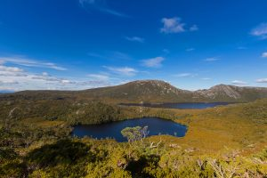 Cradle Mountain - view looking over Lake Lilla and Dove Lake - Luxury solo tours